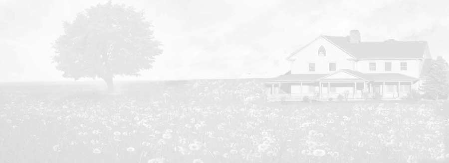 Background image showing a house and tree